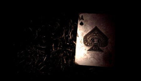 image of dark playing cards ghost deck creepy story