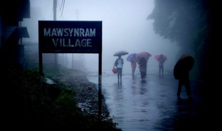 image of Mawsynram Village wettest place on earth